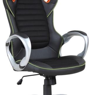 Kancelářské křeslo Cedex, černá/béžová/oranžová