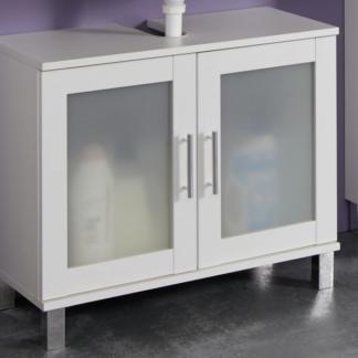 Koupelnová skříňka pod umyvadlo Orlando, bílá/satinované sklo