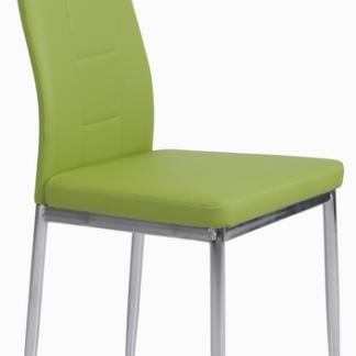 Jídelní židle Melanie, zelená ekokůže