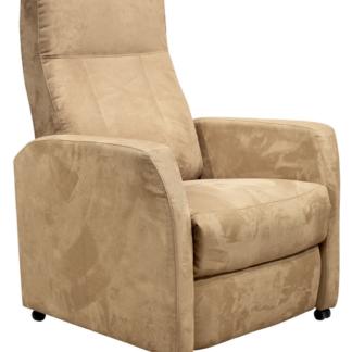 Relaxační TV křeslo Asko 4312-MPB120, světle hnědá látka