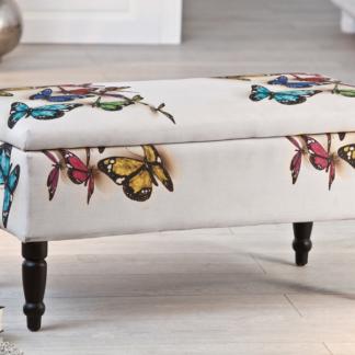 Úložná lavice Trondheim, s motivem motýla