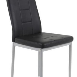 Jídelní židle Kim, černá ekokůže
