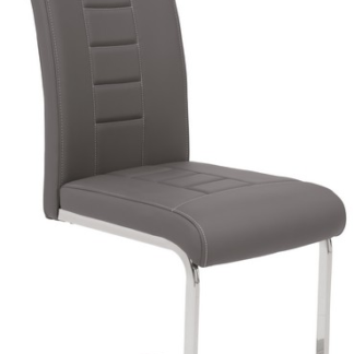 Jídelní židle Ruby, šedá ekokůže