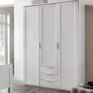 Šatní skříň Nadja, 135 cm, bílá