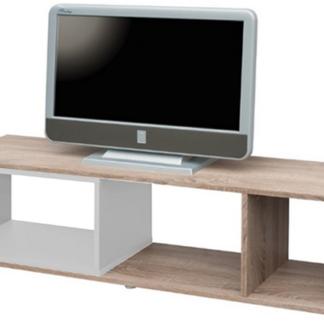 TV stolek/regál Cubix, dub sonoma/bílý