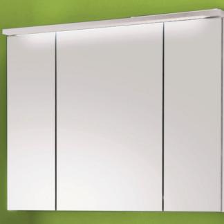 Koupelnová skříňka se zrcadlem Splash, s osvětlením, bílá