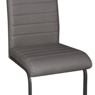 Jídelní židle Arden, šedá ekokůže