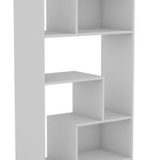 Vysoký regál Zigzag, bílý