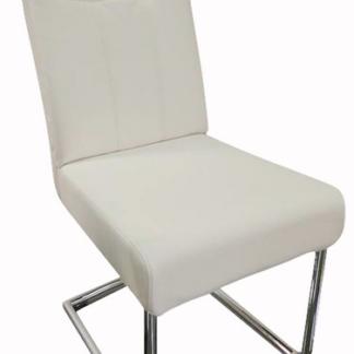 Jídelní židle Loreta, bílá ekokůže