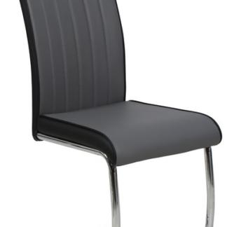 Jídelní židle Vertical, šedá/černá ekokůže