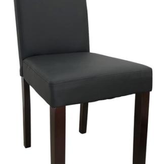 Jídelní židle Rudy, černá ekokůže