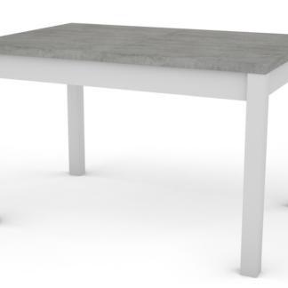 Jídelní stůl Adam 120x80 cm, bílý/beton, rozkládací