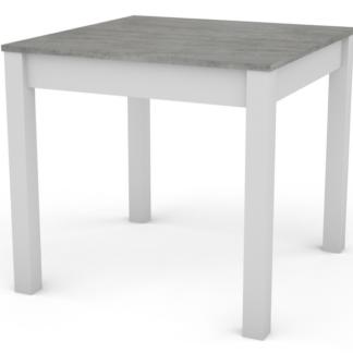 Jídelní stůl David 80x80 cm, bílý/šedý beton