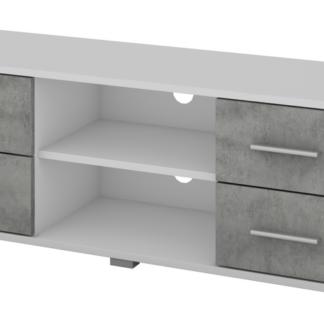 TV stolek Oskar TV, bílý/beton