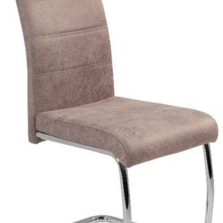 Jídelní židle Flora 2, béžová vintage látka