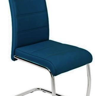 Jídelní židle Flora, tmavě modrá ekokůže