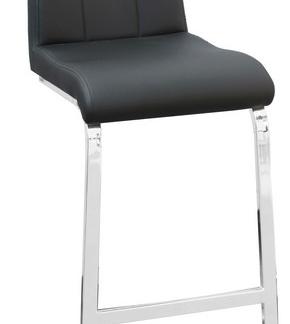 Barová židle Flex, černá ekokůže