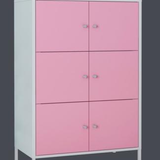 Skříňka Funny, bílá/růžová