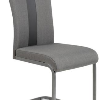 Jídelní židle Amber 2, šedá látka/ekokůže