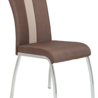 Jídelní židle Amber 3, hnědá látka/ekokůže