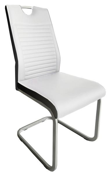 Jídelní židle Rindul, bílá/černá ekokůže