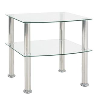 Odkládací stolek Katja 2, čiré sklo