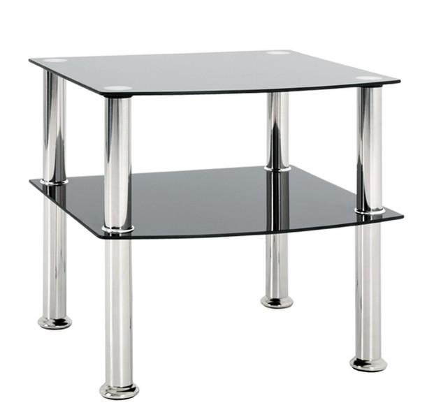Odkládací stolek Katja 2, černé sklo