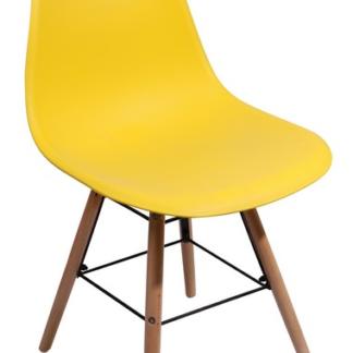 Jídelní židle Lyon, žlutá