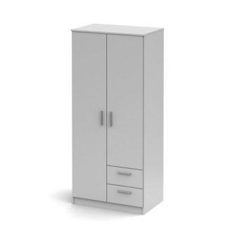 Šatní skříň dvoudveřová se šuplíky SINGA 81 Tempo Kondela Bílá