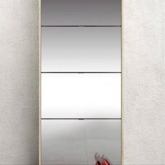 Botník Shoes 59010 dub sonoma/zrcadlo - TVI