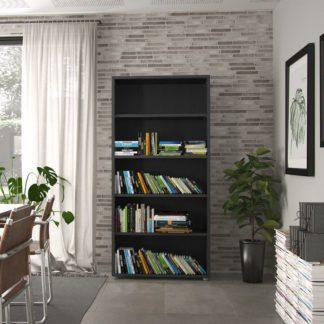 Knihovna Prima 80420 černá struktura dřeva - TVI