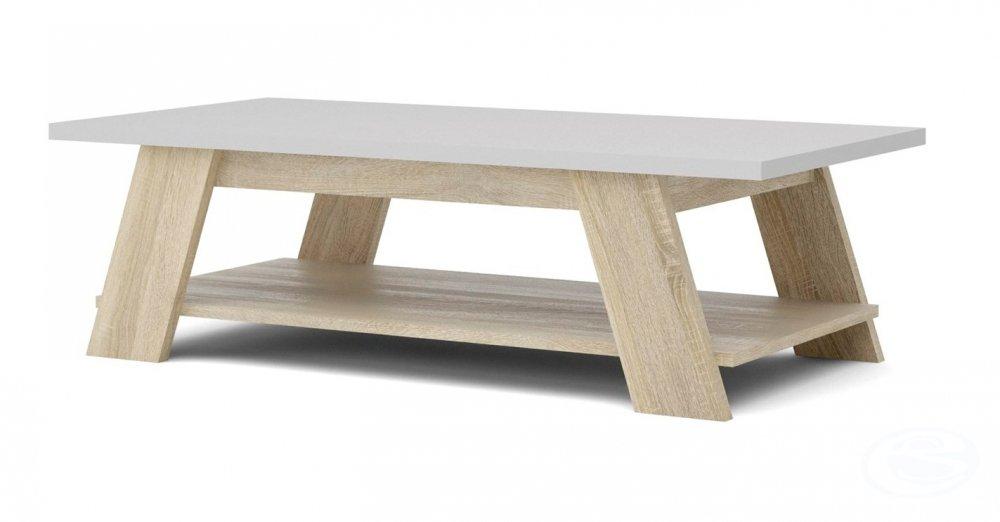 Konferenční stolek 50753 dub sonoma/bílá - TVI