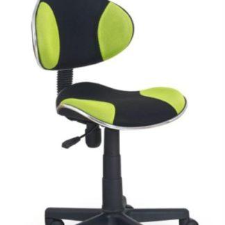 Dětská židle FLASH, černá/zelená