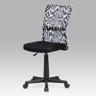Dětská židle KA-2325 BKW, černá s motivem