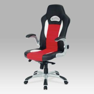 Kancelářská židle KA-E240B RED, PU černo-červená