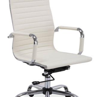 Kancelářská židle Q-040 krémová ekokůže