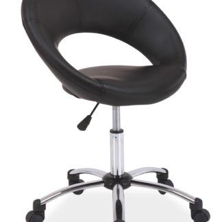 Kancelářské křeslo Q-128 černá ekokůže