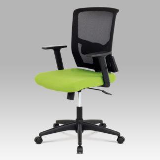Kancelářská židle KA-B1012 GRN, látka zelená + černá, houpací mechnismus