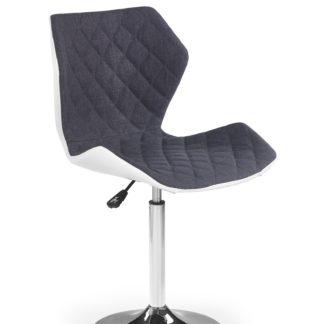 Dětská židle MATRIX 2, bílá/šedá