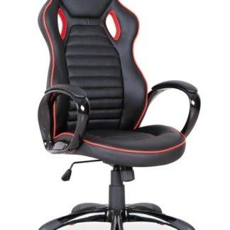 Kancelářské křeslo Q-105,  černá/červený okraj