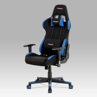 Kancelářská židle KA-F02 BLUE, modrá/černá