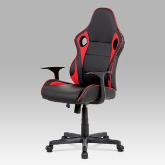 Kancelářská židle KA-E807 RED, černá/červená