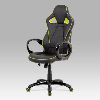 Kancelářská židle KZKA-E812 GRN, černá/zelená
