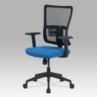 Kancelářská židle KA-M02 BLUE, modrá/černá