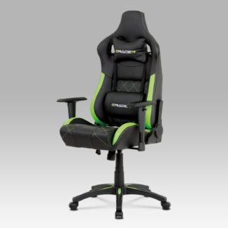 Kancelářské křeslo KA-N774 GRN, černá/zelená