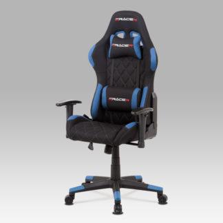 Kancelářská židle KA-V606 BLUE, černá/modrá