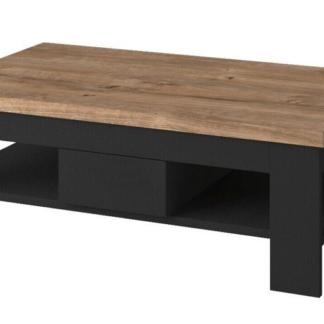 Konferenční stolek Boston, černý/dub ribbeck