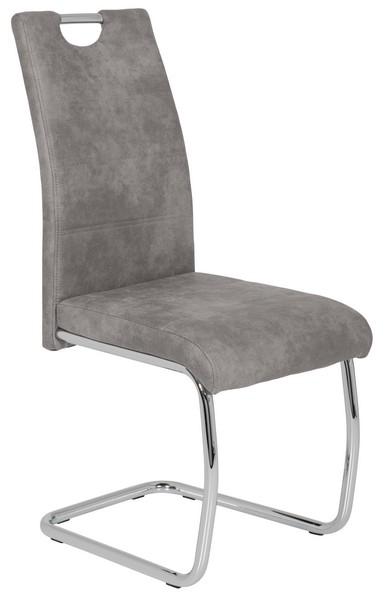 Jídelní židle Flora 2, šedá vintage látka
