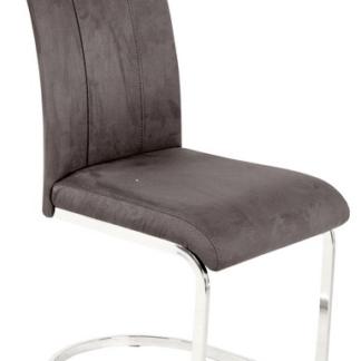 Jídelní židle Fabienne, tmavě šedá látka
