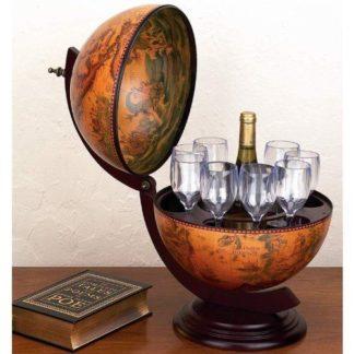 Dřevěný bar Globus - domácí bar 60 Dekorhome